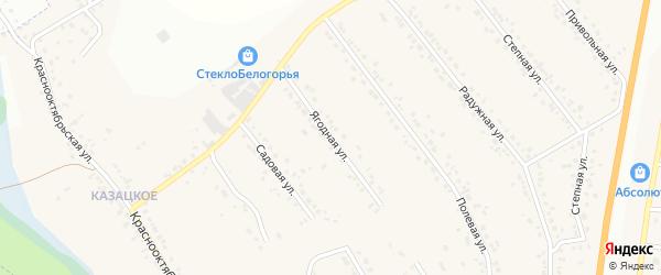 Ягодная улица на карте Стрелецкого села с номерами домов