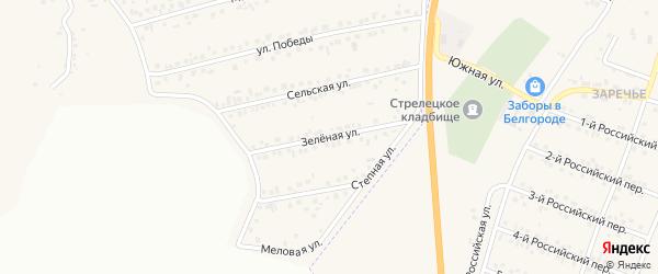 Зеленая улица на карте Пушкарного села с номерами домов
