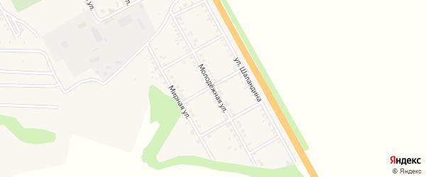 Молодежная улица на карте поселка Яковлево с номерами домов