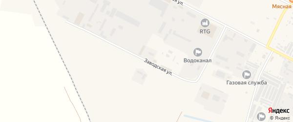 Заводская улица на карте Строителя с номерами домов