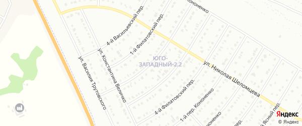 Филатовский 2-й переулок на карте Белгорода с номерами домов