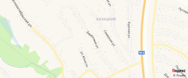 Березовая улица на карте Стрелецкого села с номерами домов