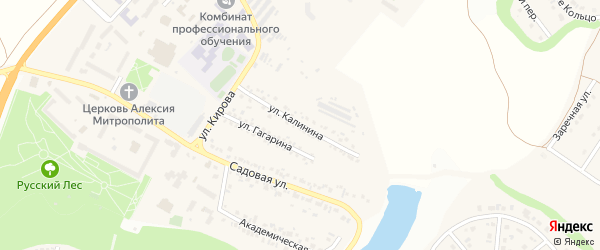 Улица Калинина на карте Майского поселка с номерами домов