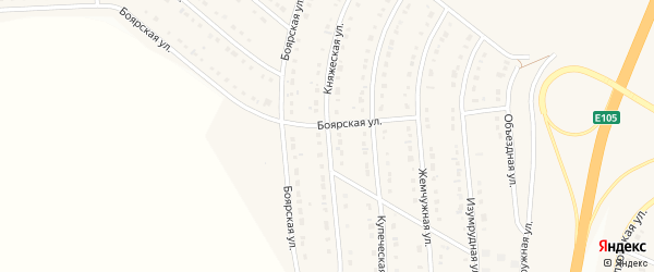 Княжеская улица на карте Стрелецкого села с номерами домов