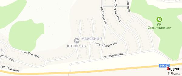 Улица Лермонтова на карте Майского поселка с номерами домов