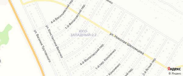 Филатовский 3-й переулок на карте Белгорода с номерами домов