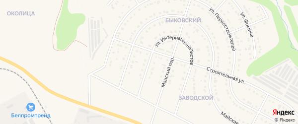 Улица Интернационалистов на карте Строителя с номерами домов