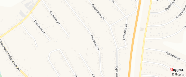 Полевая улица на карте Стрелецкого села с номерами домов