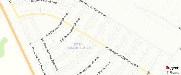 Улица Николая Шеломцева на карте Белгорода с номерами домов