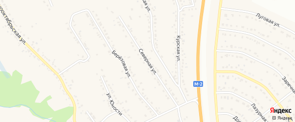 Северная улица на карте Стрелецкого села с номерами домов