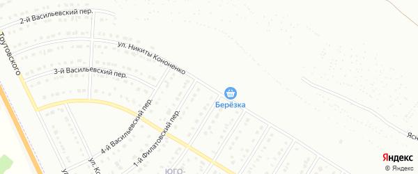 Улица Н.Кононенко на карте Белгорода с номерами домов