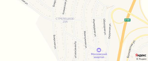 Купеческая улица на карте Стрелецкого села с номерами домов