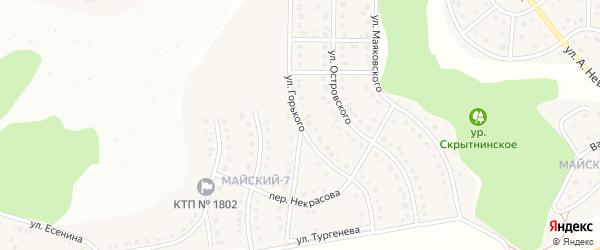 Улица Горького на карте Майского поселка с номерами домов