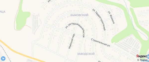 Майский переулок на карте Строителя с номерами домов