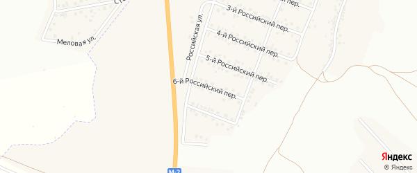 Российский 6-й переулок на карте Стрелецкого села с номерами домов