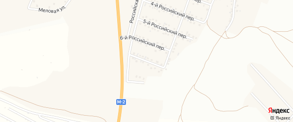 Российский 7-й переулок на карте Стрелецкого села с номерами домов