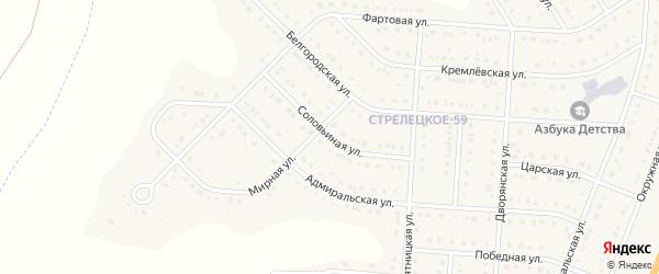 Соловьиная улица на карте Стрелецкого села с номерами домов