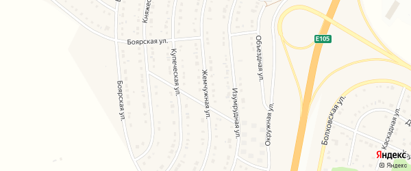 Жемчужная улица на карте Стрелецкого села с номерами домов