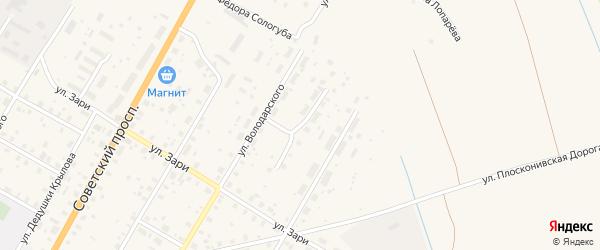 Северный переулок на карте Вытегры с номерами домов