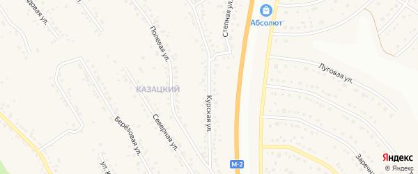 Курская улица на карте Стрелецкого села с номерами домов