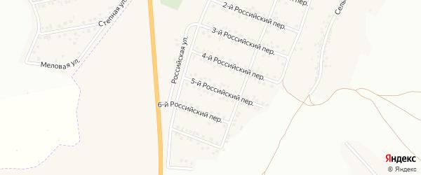 Российский 5-й переулок на карте Стрелецкого села с номерами домов