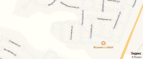 Сосновая улица на карте Стрелецкого села с номерами домов