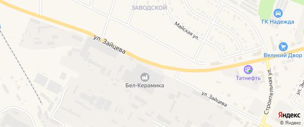 Улица Зайцева на карте Строителя с номерами домов