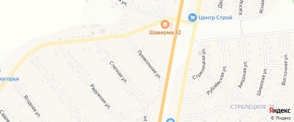 Привольная улица на карте Стрелецкого села с номерами домов