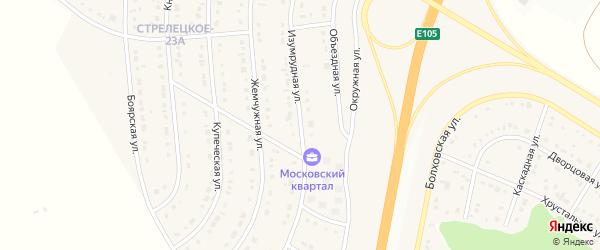 Изумрудная улица на карте Стрелецкого села с номерами домов