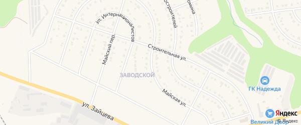 Майская улица на карте Строителя с номерами домов