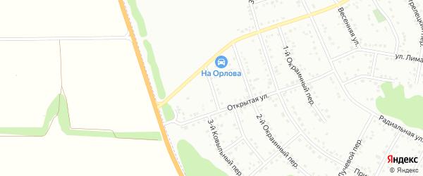 Ковыльный 2-й переулок на карте Белгорода с номерами домов