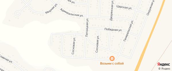 Генеральская улица на карте Стрелецкого села с номерами домов
