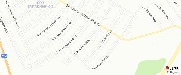 Ясный 1-й переулок на карте Белгорода с номерами домов