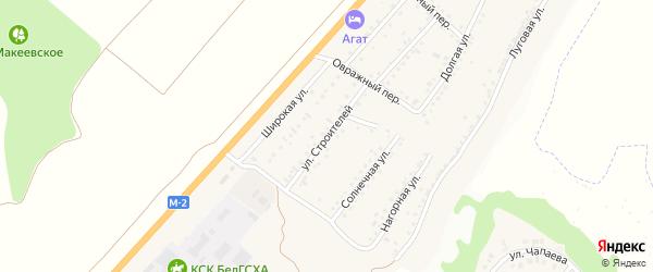 Улица Строителей на карте Майского поселка с номерами домов