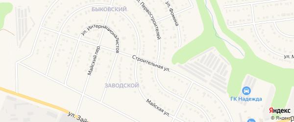 Строительная улица на карте Строителя с номерами домов