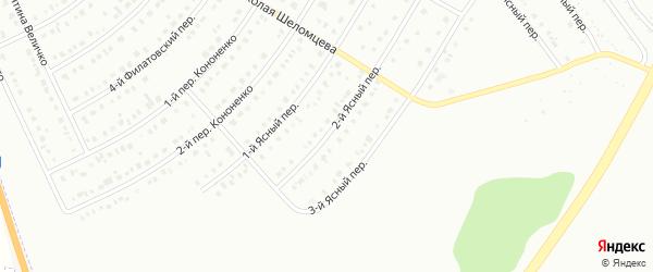 Ясный 2-й переулок на карте Белгорода с номерами домов