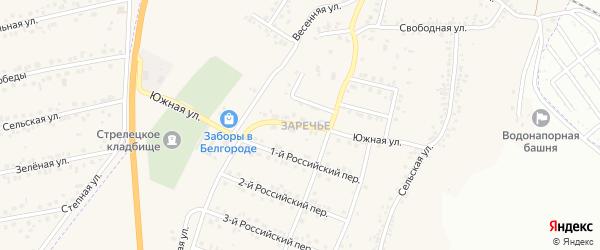 Южная улица на карте Стрелецкого села с номерами домов