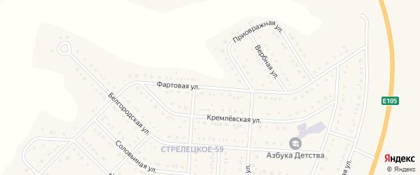 Фартовая улица на карте Стрелецкого села с номерами домов