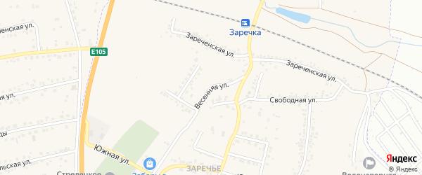 Весенняя улица на карте Стрелецкого села с номерами домов