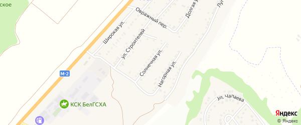 Солнечная улица на карте Майского поселка с номерами домов