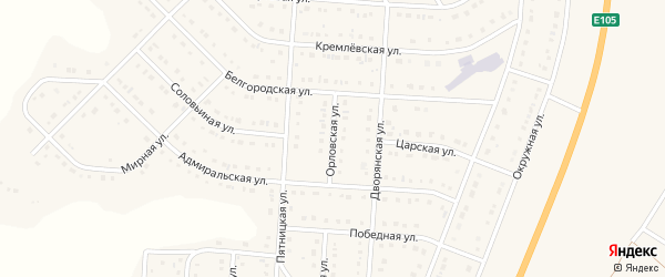 Орловская улица на карте Стрелецкого села с номерами домов