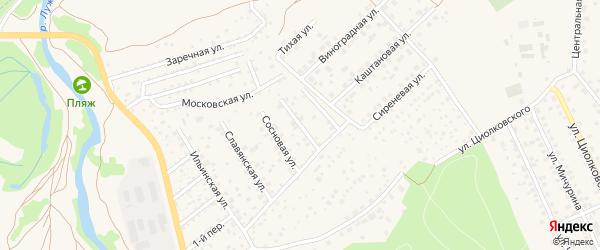 Дачная улица на карте садового некоммерческого товарищества Коммунальника 2 с номерами домов