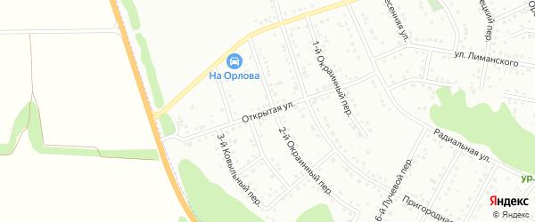 Открытая улица на карте Белгорода с номерами домов