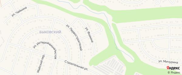 Улица Фомина на карте Строителя с номерами домов
