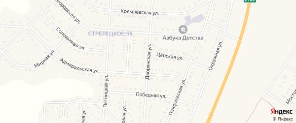Дворянская улица на карте Стрелецкого села с номерами домов