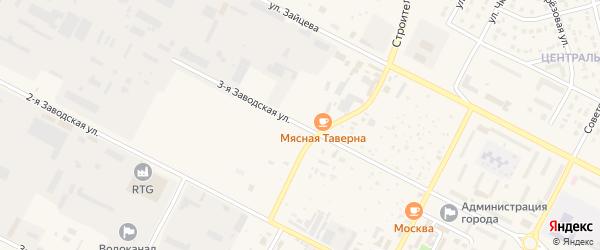 Заводская 3-я улица на карте Строителя с номерами домов