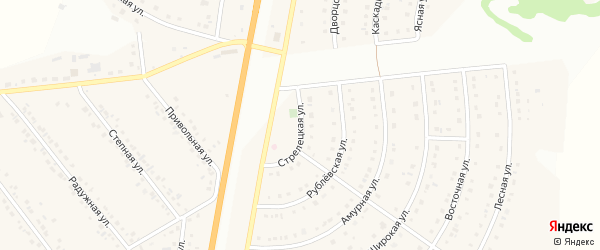 Стрелецкая улица на карте Стрелецкого села с номерами домов