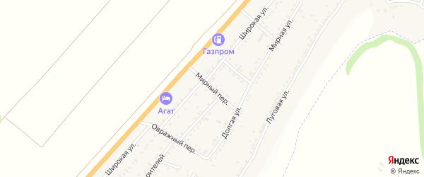 Мирный переулок на карте Майского поселка с номерами домов