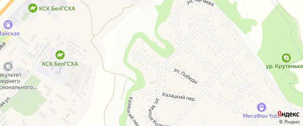 Кольцевой тупик на карте Майского поселка с номерами домов