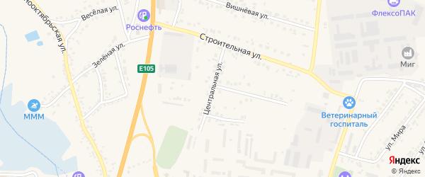 Центральная улица на карте Стрелецкого села с номерами домов